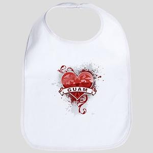 Heart Guam Bib