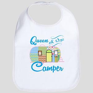 Queen of the Camper Baby Bib