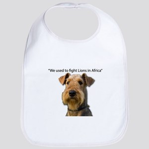 Airedales used to Fight Lions in Africa with t Bib