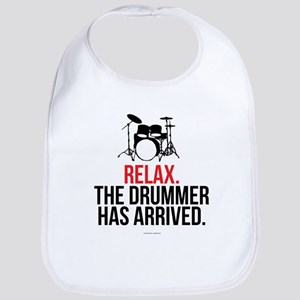 Relax Drummer Has Arrived Bib