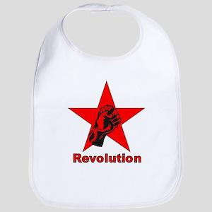 Commie Revolution Star Fist Bib