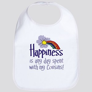 HAPPINESS IS DAY W/ MY COUSINS Bib
