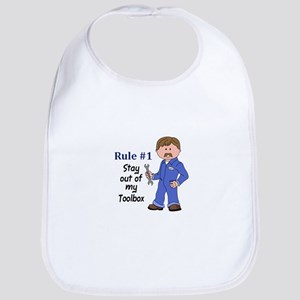 STAY OUT OF MY TOOLBOX Baby Bib