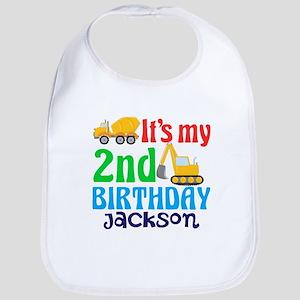 2nd Construction Birthday Baby Bib