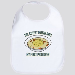 Matzo Ball - My First Passover Cotton Baby Bib