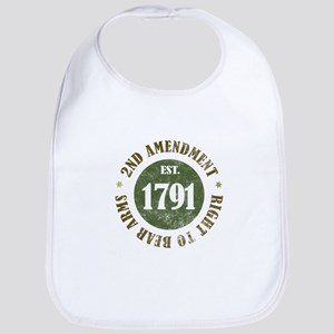 2nd Amendment Est. 1791 Baby Bib