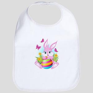Pink Easter Bunny Bib