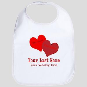 Wedding Hearts Bib