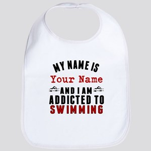 Addicted To Swimming Bib