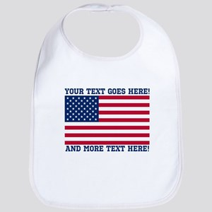 Personalized Patriotic American Flag Classic Bib