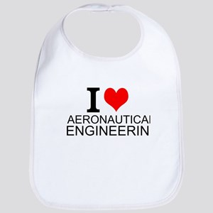 I Love Aeronautical Engineering Bib