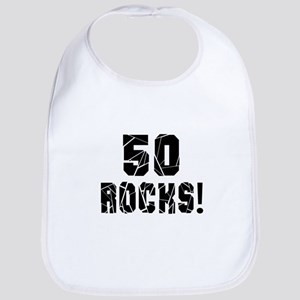 50 Rocks Birthday Designs Bib