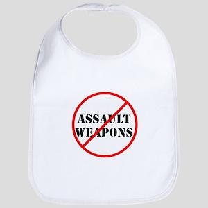 No assault weapons, gun control Bib