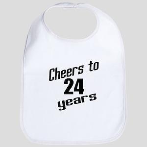 Cheers To 24 Years Birthday Bib