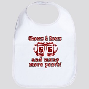 Cheers And Beers 66 And Many More Years Bib