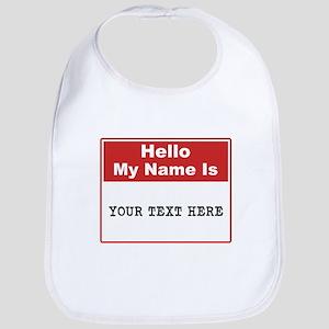 Custom Name Tag Bib