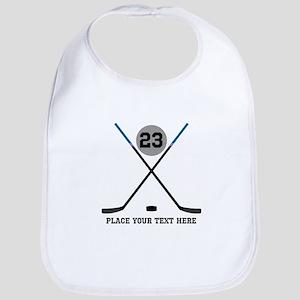Ice Hockey Personalized Cotton Baby Bib