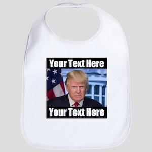 President Donald Trump Meme Baby Bib