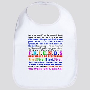 Friends Quotations Cotton Baby Bib