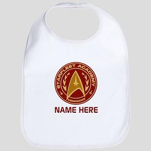 Starfleet Academy Personalized Cotton Baby Bib
