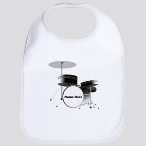 Drums Personalized Cotton Baby Bib