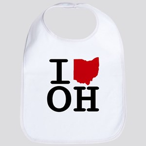 I Heart Ohio Bib