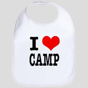 I Heart (Love) Camp Bib