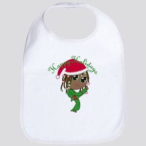 Kicking Spirit Happy Holidays A Bib