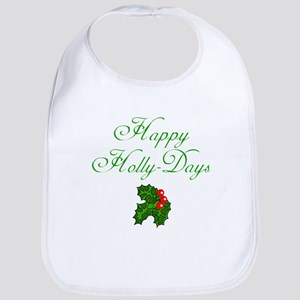 Happy Holly Days Holiday Bib