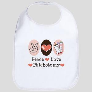 Peace Love Phlebotomy Bib