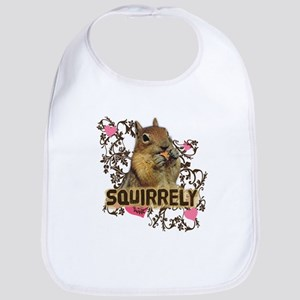 Squirrely Squirrel Lover Bib