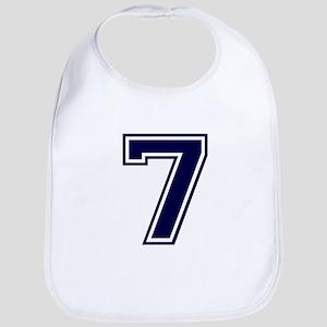 NUMBER 7 FRONT Bib