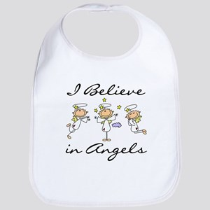 I Believe in Angels Bib
