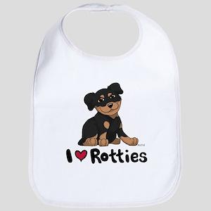 I Heart Rotties 10x10 Bib