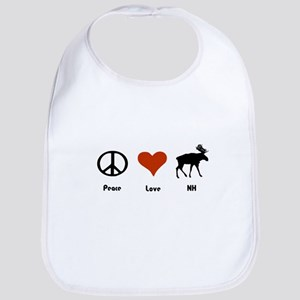 Peace Love New Hampshire Bib