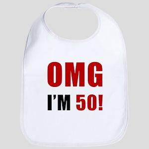 OMG 50th Birthday Bib