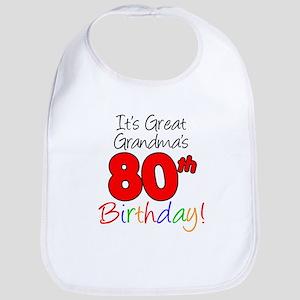 Great Grandma's 80th Birthday Bib