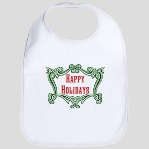 Happy Holidays Bib