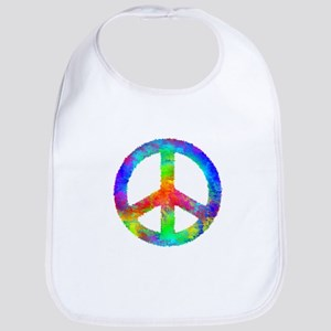 Multicolored Peace Sign Bib