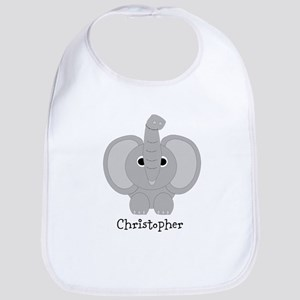 Personalized Elephant Design Bib