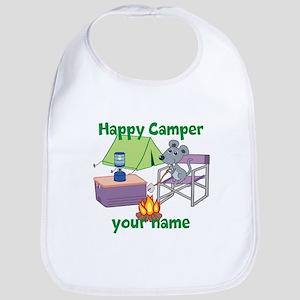 Custom Happy Camper Mouse Bib