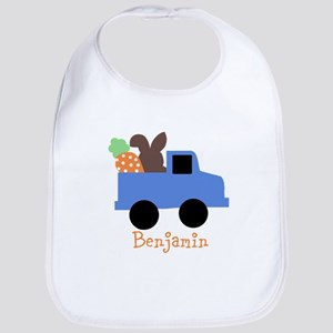Easter time truck personalized Bib