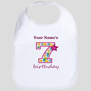 7th Birthday Splat - Personalized Bib
