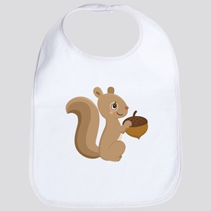 Cartoon Squirrel Bib