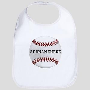 Personalized Baseball Red/White Bib