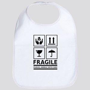 Fragile Please Handle With Care Bib