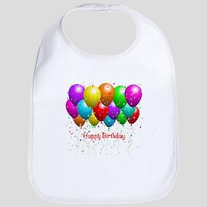 Happy Birthday Balloons Bib