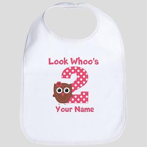 2nd Birthday Owl Bib