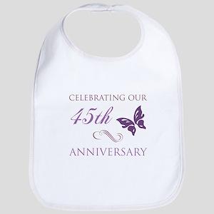 45th Wedding Aniversary (Butterfly) Bib