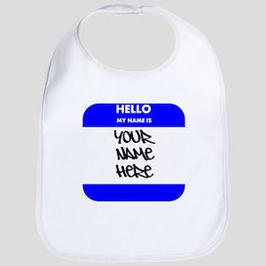 Custom Blue Name Tag Bib